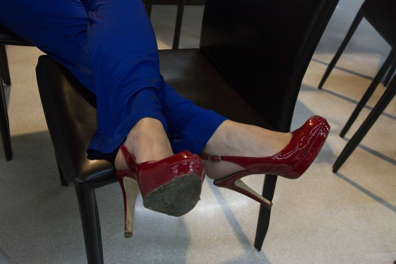 Woman Shoes Red Passion Blue