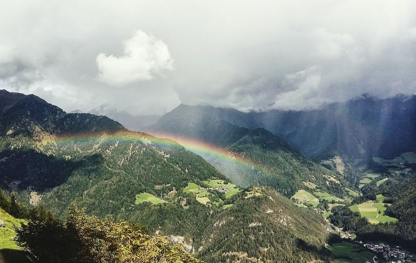 Cloud - Sky Rainbow Beauty In Nature Clouds And Sky Fresh On Eyeem  Great View Hiking❤ Alps Landscape Somewhere Over The Rainbow Finding New Frontiers Been There. Perspectives On Nature Be. Ready.
