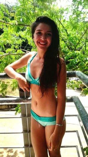 🌿 Looking At Camera Portrait Only Women Bikini One Person Summer Outdoors Day Happiness Smiling Beautiful Woman One Young Woman Only