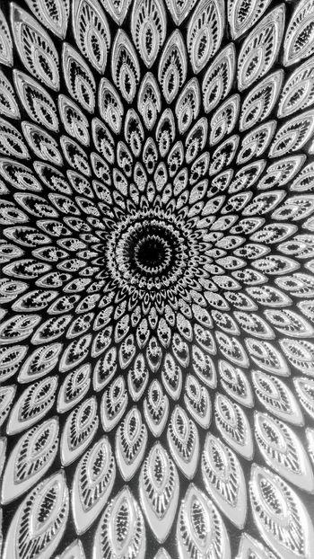 Blackandwhite Design Flower Mandala Art Unique