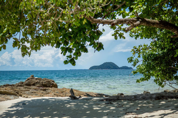 Beach Beauty In Nature Blue Calm Cloud - Sky Day Horizon Over Water Island Nature No People Outdoors Scenics Sea Sea And Sky Seascape Shore Sky Thailand Tree Water
