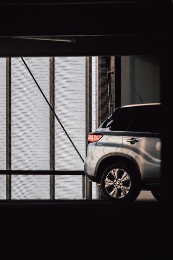 Car window in city