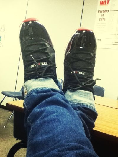 Chilling with the Bred 11's on !