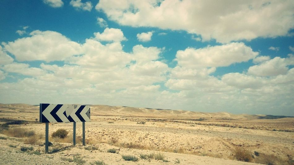 Theadventurehandbook Desert Road Roadtrip Road Signs Israel South Desert Beauty Landscapes With WhiteWall