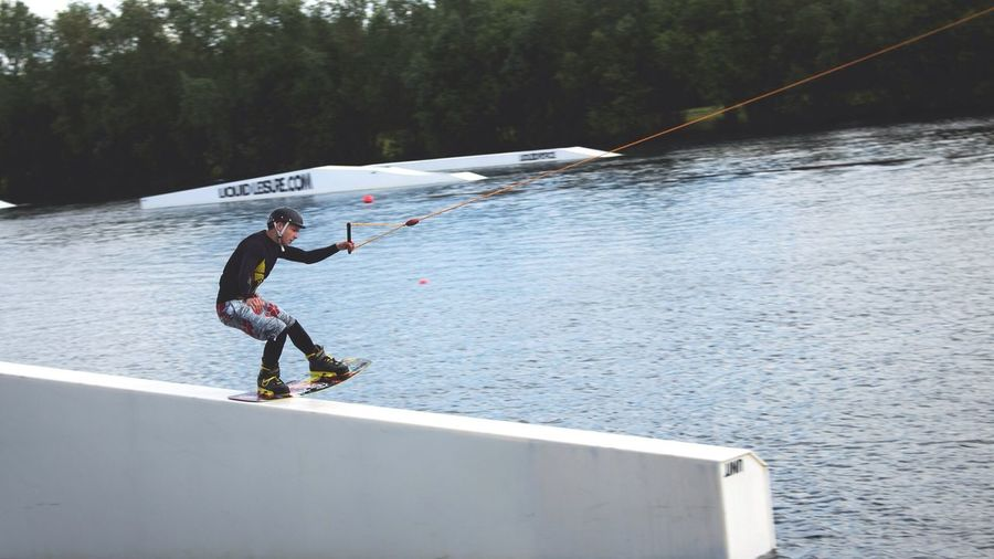 Me Pressing The A-Frame At Liquid Leisure Wakeboard Wakeboarding Rail Liquid Force