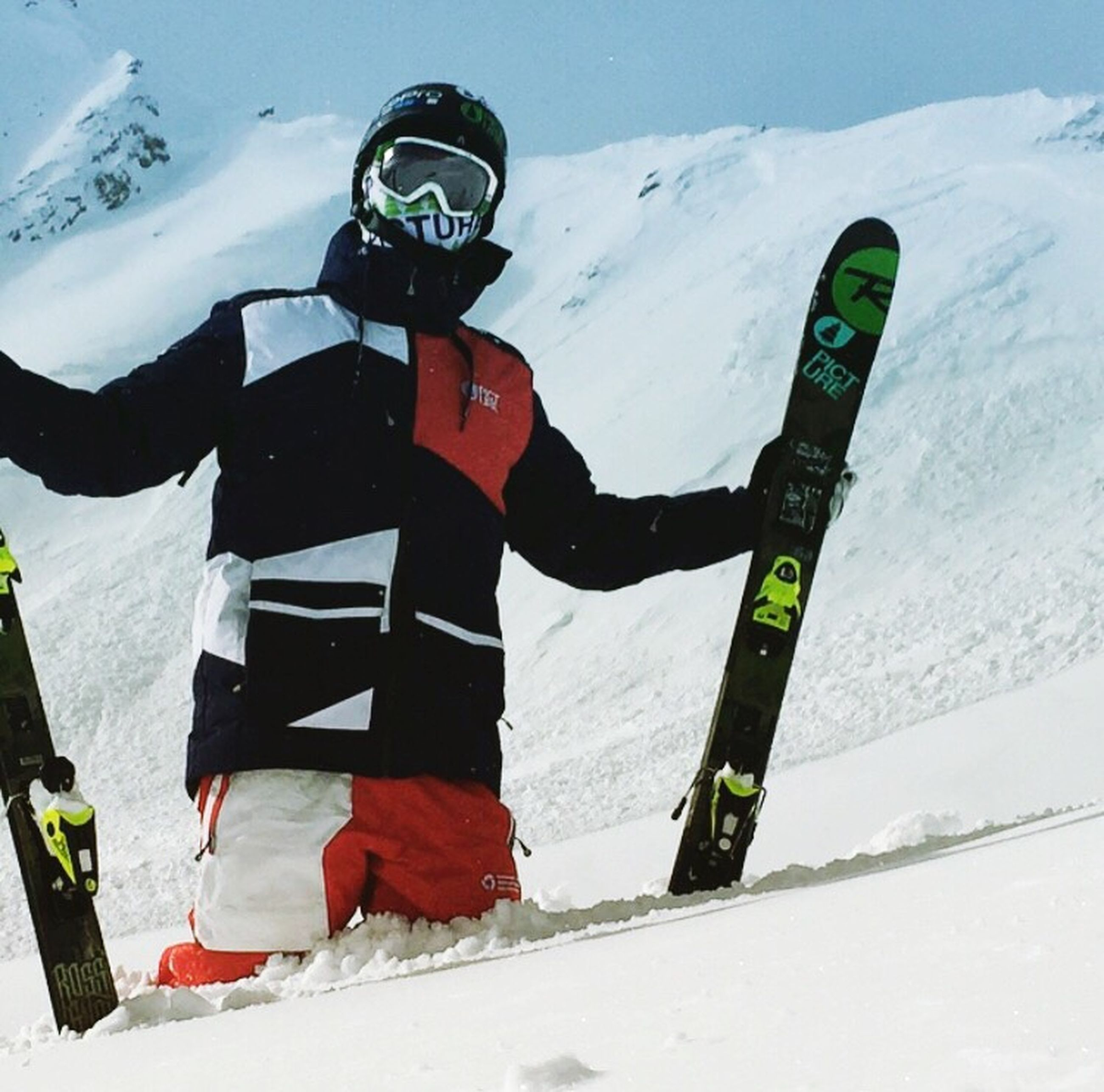 snow, winter, cold temperature, leisure activity, season, lifestyles, extreme sports, mountain, adventure, sport, weather, communication, high angle view, day, white color, text, transportation, unrecognizable person