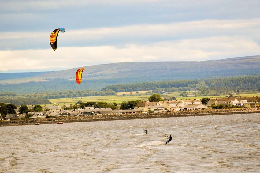 Kitesurfing Adventure Nature Leisure Activity Sky Scenics Outdoors Landscape Water Real People Beach Ardersier, Near Inverness Scotland Scottish Highlands