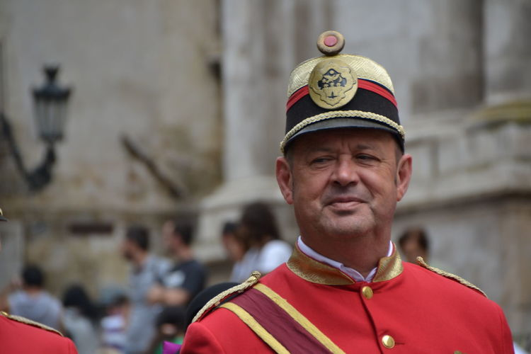 Portrait Red Headshot Uniform Pride Army Royalty Outdoors Day Giostra Cavalleresca Sulmona Sulmona Tradition Traditional Festival Close-up Break The Mold TCPM Art Is Everywhere The Portraitist - 2017 EyeEm Awards The Street Photographer - 2017 EyeEm Awards The Photojournalist - 2017 EyeEm Awards
