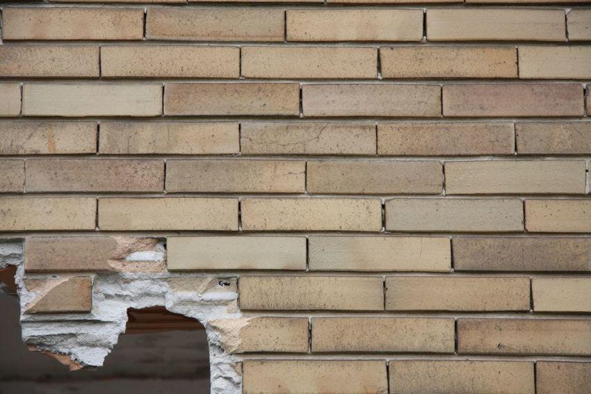 Border Brick Wall Bricks Broken Wall Factory Hole In The Wall Holes Wall