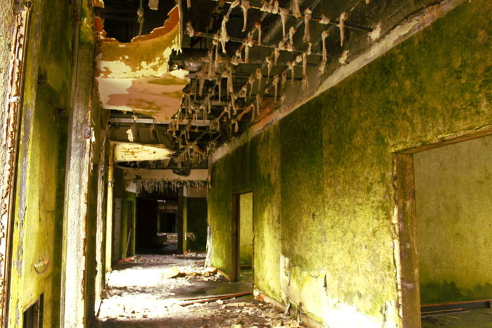 Architectural Column Architecture Azores Bad Condition Building Built Structure Column Damaged Day Deterioration Diminishing Perspective Empty No People Obsolete Old Oldhotel Portugal Ruined Run-down