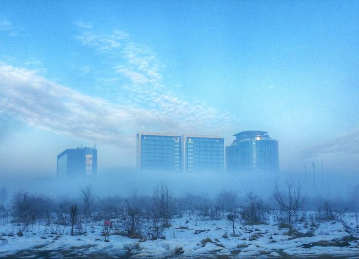 Fog Foggy Morning Winter Cold Building Buildings & Sky Showcase: February Enjoying The View Check This Out Taking Photos