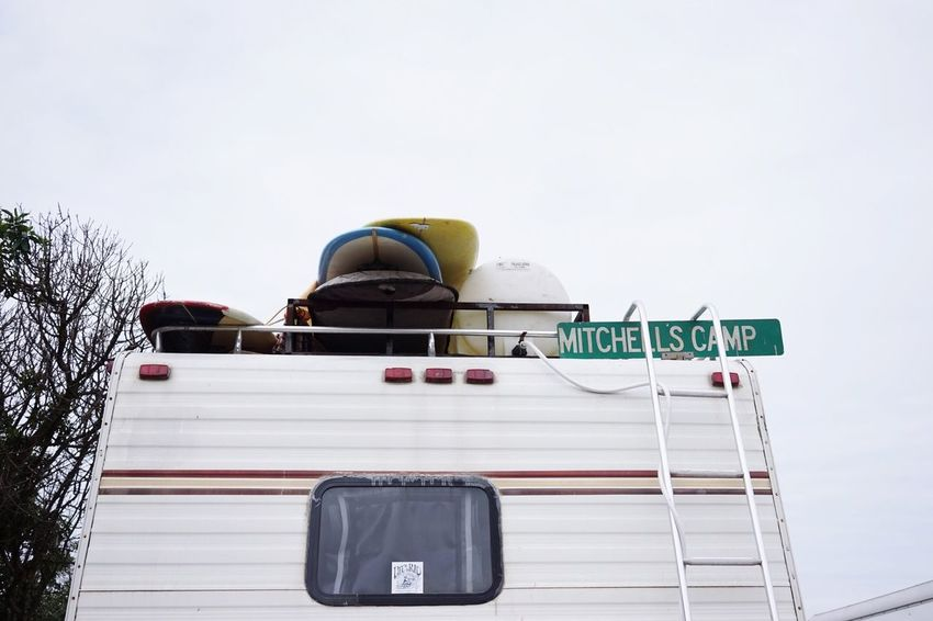 Surfboard on top of Motorhome Life Is A Beach Beachphotography Beach Life Surf's Up Enjoying Life Campground California Encinitas Shootermag Feel The Journey