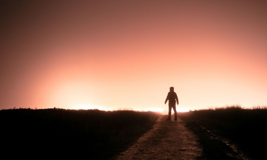 Pathway Path Glow Glowing Horizon Politics And Government Sunset Full Length Silhouette Walking Standing Sky Focus On Shadow Hiker Shadow Long Shadow - Shadow