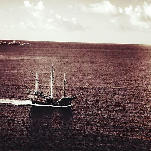Pirate Ship Black Sails Black Sea Dubrovnik Croatia