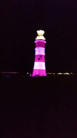 Lighthouse at plymouth Spectrum Blurry Lighthouse Plymouth Plymouth Hoe Plymouthlighthouse Devon Coast Night
