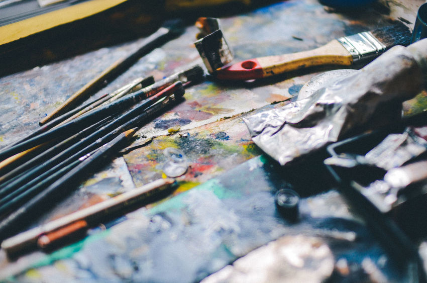 Arts and Crafts Acrylic Art Art And Craft Artist Artistic Artistic Expression Arts And Crafts Brush Brushes Close-up Creative Creativity Expression Expressive Impressive Kreativ Kunst No Limits Oil Painting Oil Tube Paint Paint Tube Painting Spray Van Gogh