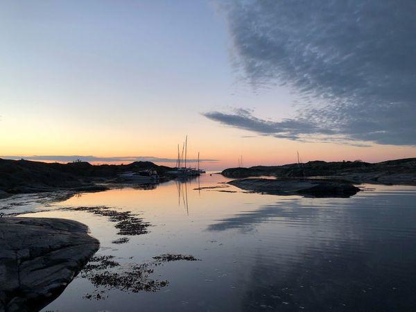 Svenska Högarna Summer Sweden Archipelago Boatlife Sunset Sky Water Sunset Sea Beauty In Nature Scenics - Nature Reflection Nature Idyllic Outdoors