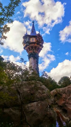 DisneyWorld ✨ Turret Buildings & Sky Architectural Detail Architecture Fairytales & Dreams Princess ♥ Repunzel So High Exterior Design