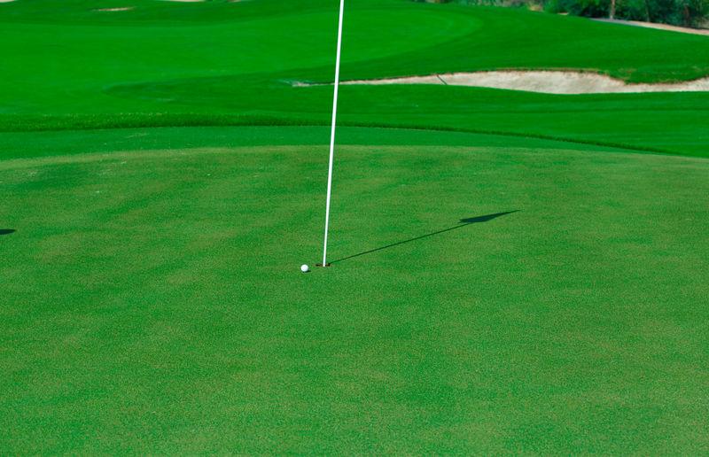 High angle view of golf ball