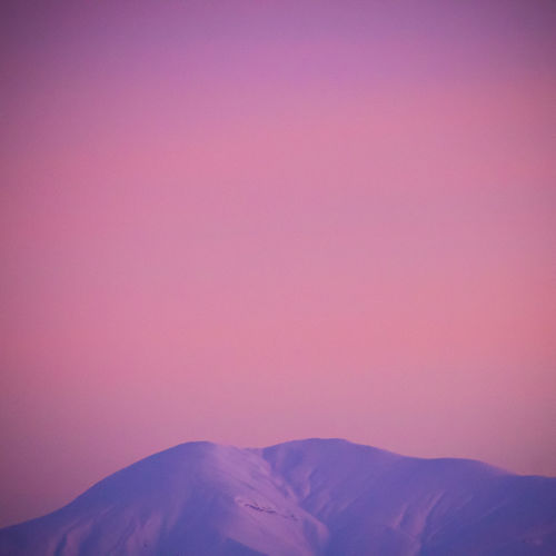 Scenic View Of Pink Mountain Against Sky
