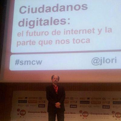 Última ponencia en Cw12 @jlori nos habla sobre el futuro de internet Smcw Fotoscw