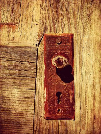 """Mystery Ranch No. 16"" Skeleton Key Required. New Mexico Photography New Mexico Entryway Entry Weathered Wood Weathered Doorknob Rusted Mystery Doors Door Skeleton Key  Wood - Material Door No People Close-up Textured  Lock"