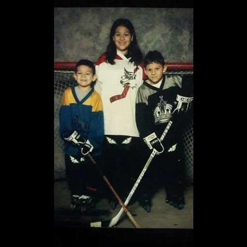 Me and the bros like 9 years ago. My first and favorite team!? Coyotes  Yotes Kingshockey Gokingsgo hockey rollerhockey hockeygirl becauseitsthecup drewdoughty♥