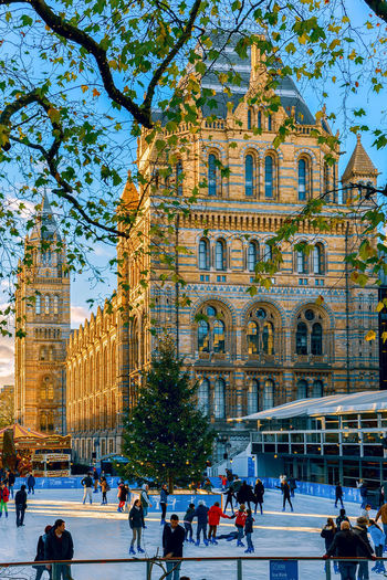 Architecture Building Building Exterior Built Structure City Crowd Day Group Of People History Ice Large Group Of People Lifestyles Men Museum Of Natural History Nature Outdoors Plant Real People Tourism Travel Travel Destinations Tree