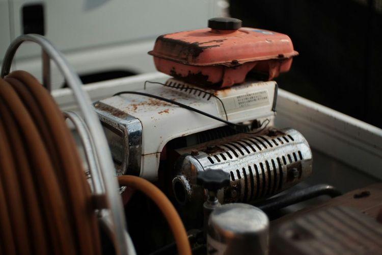 Close-up of diesel generator