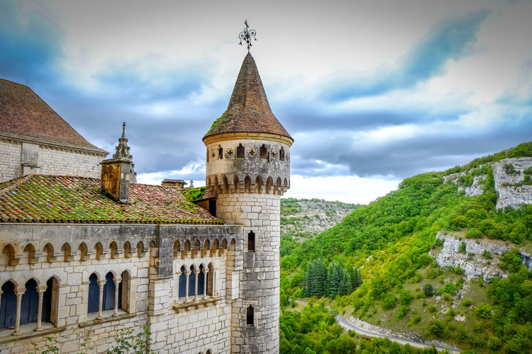 Castle Dordogne France Rocamadour Architecture Beauty In Nature Building Exterior Built Structure Cloud - Sky Day History Low Angle View Nature No People Outdoors Place Of Worship Religion Sky Spirituality Travel Destinations Tree