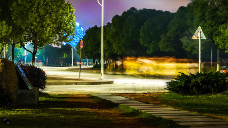 last night I had no idea what I was capturing Night Photography Slow Shutter Nanchang Hangkong University Campus with @Sony_a58