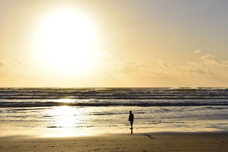 Sommergefühle Summer Beach Sunset Water Sand Waterfront Sun Silhouette