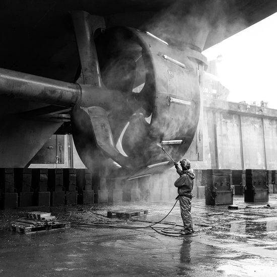 Denmark 🇩🇰🇩🇰🇩🇰 Drydock Vessel Propeller Blackandwhite