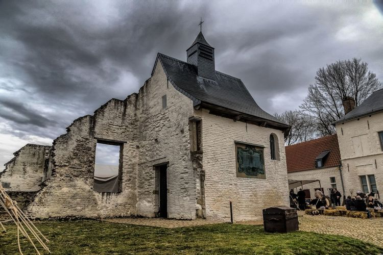 Chapel HDR Hougoumont Ruins Waterloo Architecture Cloud - Sky History Napoleon Wars The Past