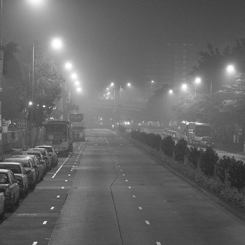 Welcome to Silent Hill... 大霧到呢 Hkig HongKong SilentHill Fog Nyctophilia Night Siusaiwan 小西灣
