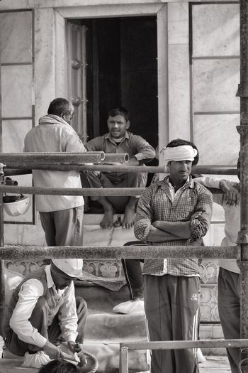 Busy Builders at the Taj Mahal The Tourist