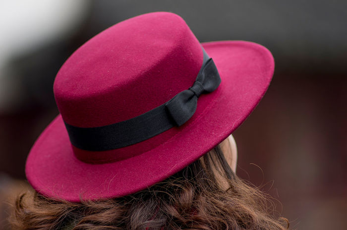 Red Hat Beauty Focus On Foreground Hat Headshot Lifestyles One Woman Only Portrait Portrait Photography Red Hat Lady Women