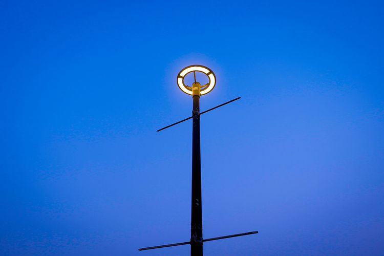 Lamp Outdoor Nature Clear Sky Blue Weather Vane Technology Moon Direction Sky