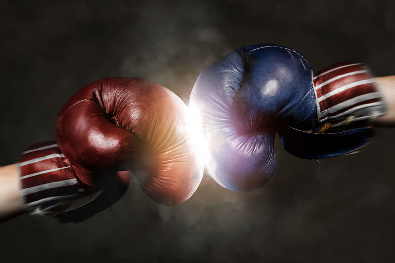 America Black Background Boxing Gloves Close-up Country Day Democrat Democrats Fight Fighting Flag Food Freshness Gloves No People Politics And Government Republican Republicans Sport Studio Shot Symbol USA