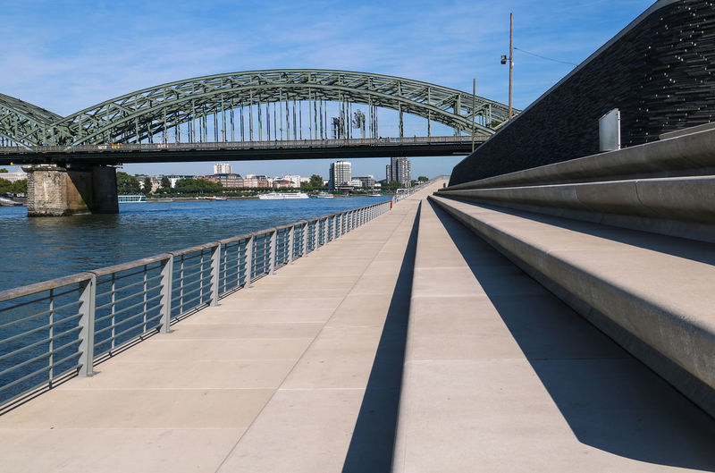Perspective Architecture Bridge Bridge - Man Made Structure Built Structure Connection Day Modern No People Outdoors Perspective Photography Perspective View River Sky Transportation Travel Destinations Water Urban Geometry The Graphic City
