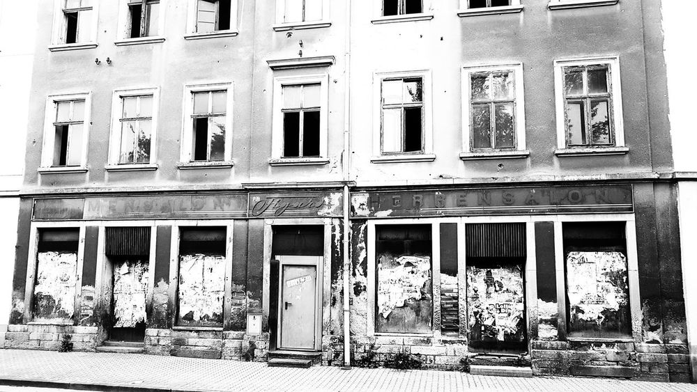 House Blackandwhite Black And White EyeEm Best Shots EyeEm Nature Lover EyeEmBestPics EyeEm Best Edits EyeEm Best Shots - Nature EyeEm Selects Streetphotography Old Times Couffeur GDR German Democratic Republic Old Old Buildings Window Architecture Building Exterior Built Structure Weathered Street Art Deterioration Run-down Civilization Damaged Rusty Bad Condition Ruined Obsolete