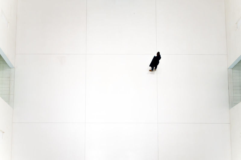 Architecture Corridor Flooring From Above  From My Point Of View Indoors  Men Modern Outline Peolple People And Places Silhouette Standing The Color Of Business Top Perspective Unrecognizable Person Walking