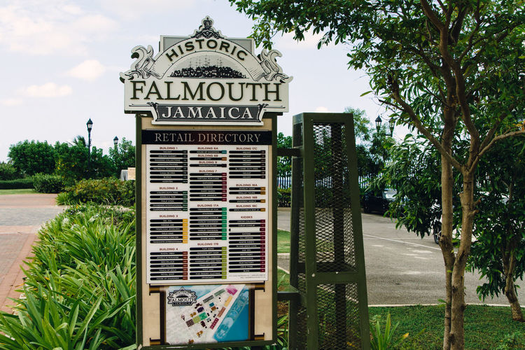 The Port of Falmouth Sign Cruise Port Falmouth Jamaica No People