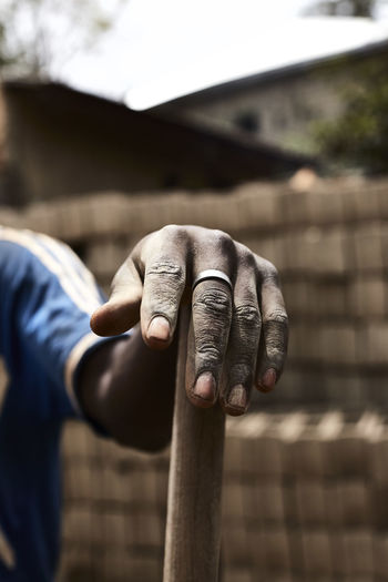 Hand Human Hand Human Body Part One Person Focus On Foreground Built Structure Real People Holding Close-up Working Work Hands Africa African Color Colors