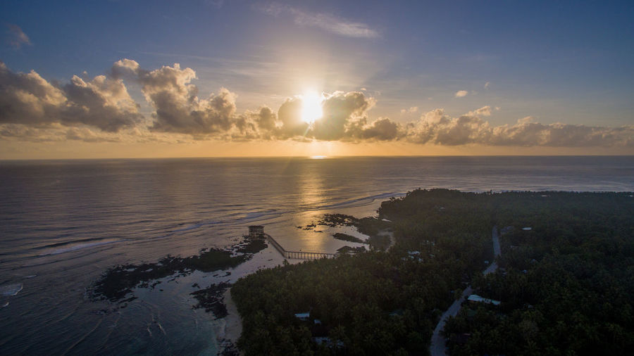 ocean101 siargao boat cloud 9 sunset walkway Cloud9 Drone  Philippines Surf Wanderlust Aboutpassion Aerial Photography Aerial View Siargao Surfing Waves, Ocean, Nature