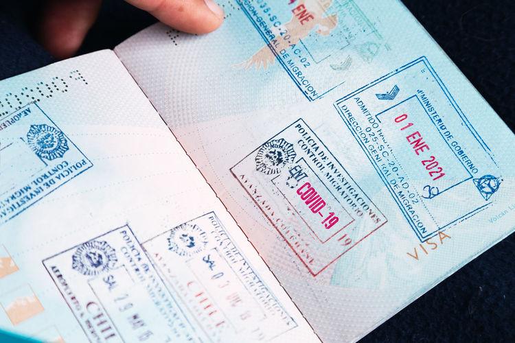 Passport book for travel