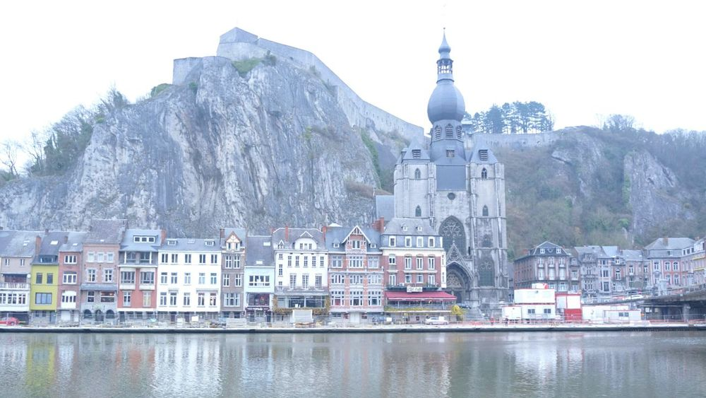 Dinant, Belgium. By the Meuse river. Travel Travel Photography Dinant Belgium Belgium Architecture Architecture Church Historical Building Travel Destinations Heritage Building Traveling Place Of Worship Cathedral
