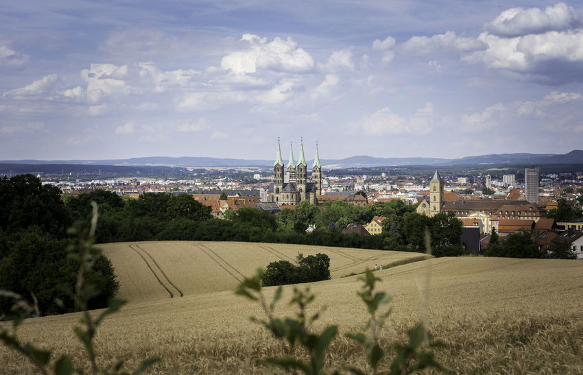 The fields and view from the Altenburg in Bamberg Abtei Michaelsberg Altenburg Bamberg  Bamberger Dom Barley Beer Bier Deutschland Felder Fields Of Barley German Germany Gerste Grass Malz Panorama Schlenkerla Smoked Beer UNESCO World Heritage Site