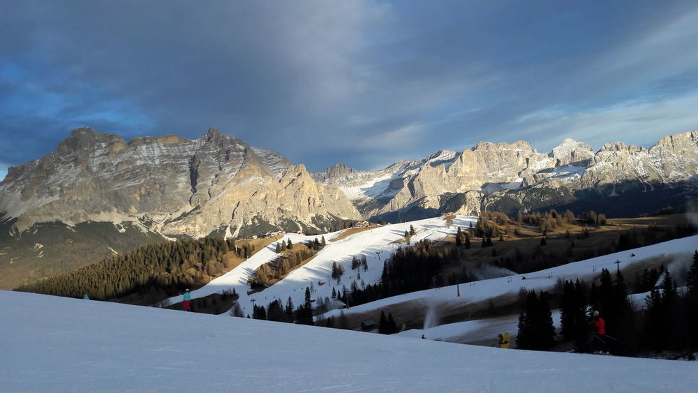 Dolomites, Italy Skiing Beauty In Nature Cloud - Sky Cold Temperature Day Landscape Mountain Mountain Range Nature No People Outdoors Scenics Sky Snow Snowcapped Mountain Tranquil Scene Tranquility Tyrol Weather Winter EyeEmNewHere Shades Of Winter