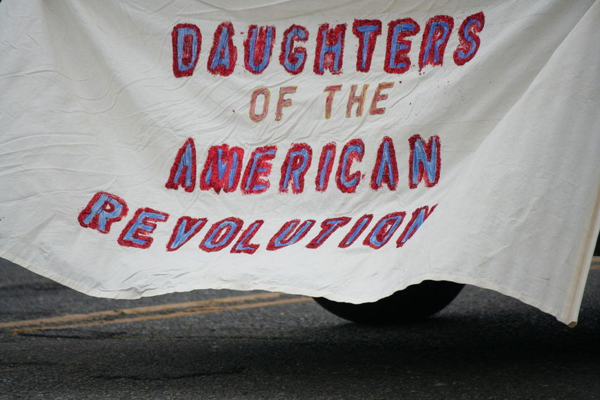 4th Of July 2016 4th Of July Parade Celebration Close-up Daughters Of The American Revolution Information No People Parade Red Still Life Text Western Script